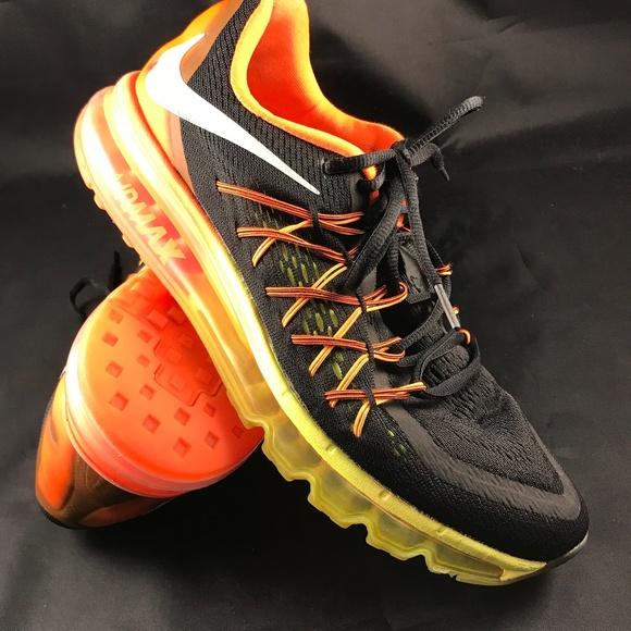 outlet store 8d5b5 fcba1 NIKE Shoes   Mint Air Max 2015 Black Yellow Orange Mens 10   Poshmark